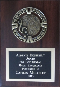 2013 Aldente award Flamborough Centre - Caitlin Micallef