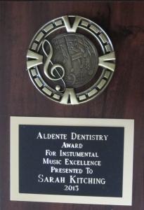 2013 Aldente award Flamborough Centre - Sarah Kitching