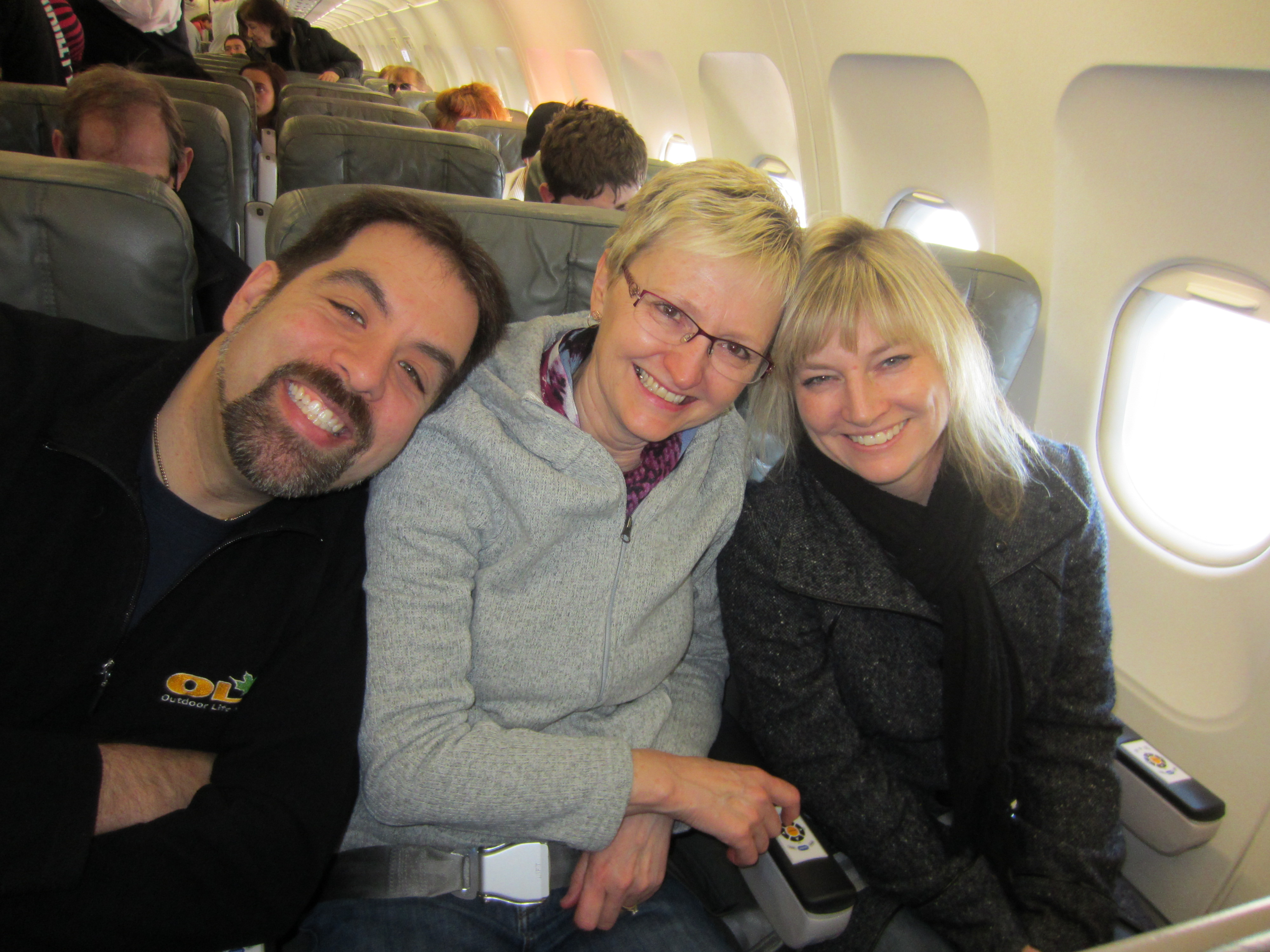 Dr. Isaacs, Sharon and Jeanette on their way to NYC