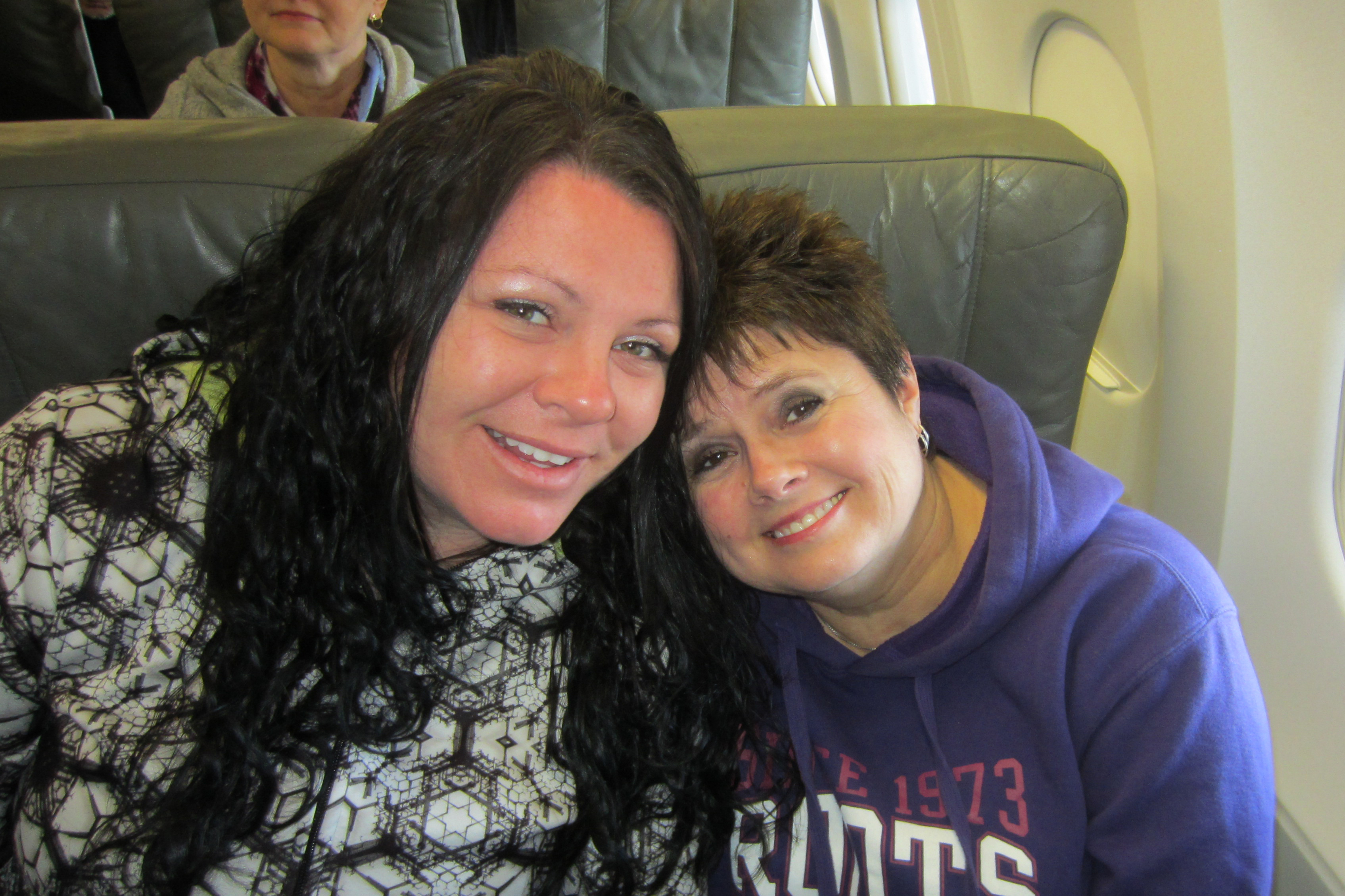 Allyson and Joyce on their way to NYC