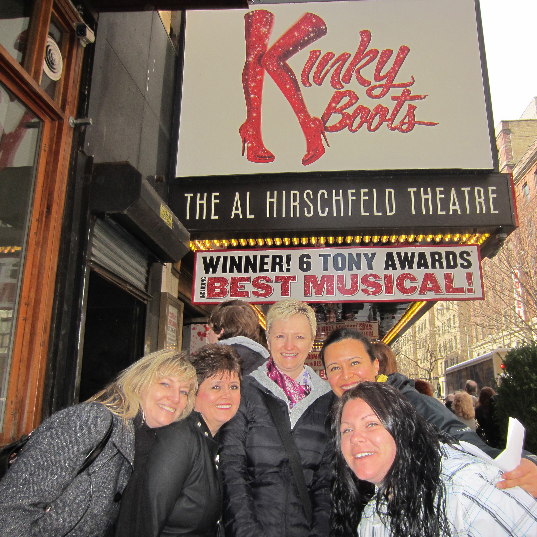 Aldente ladies at Broadway Show