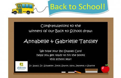 And the winner of our Back to School draw is…